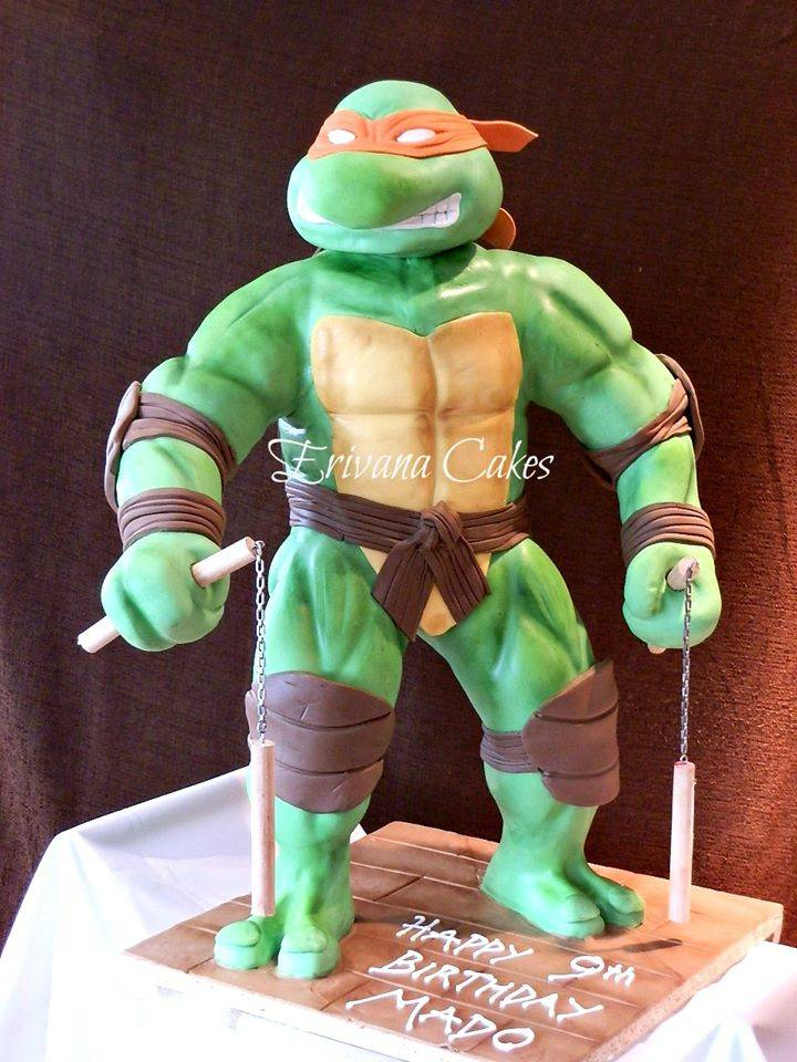 Gravity Defying - 3d Ninja Turtle Cake