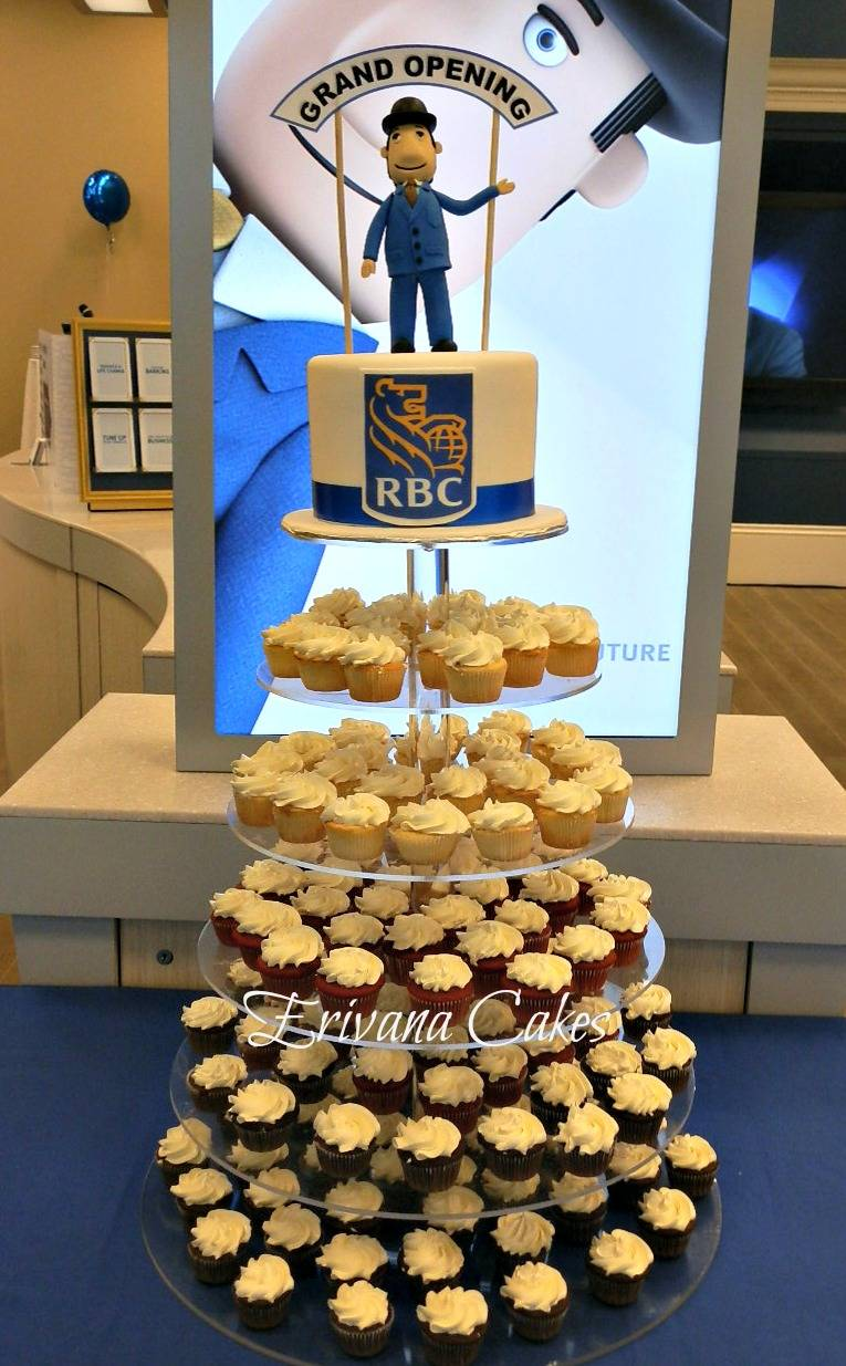 Corporate Event - RBC Cake and cupcakes