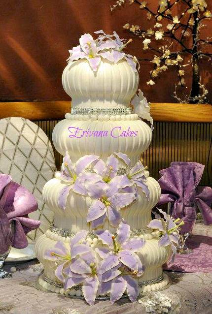 Lilac and White  Cake