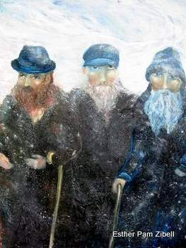 Three beggars in the snow
