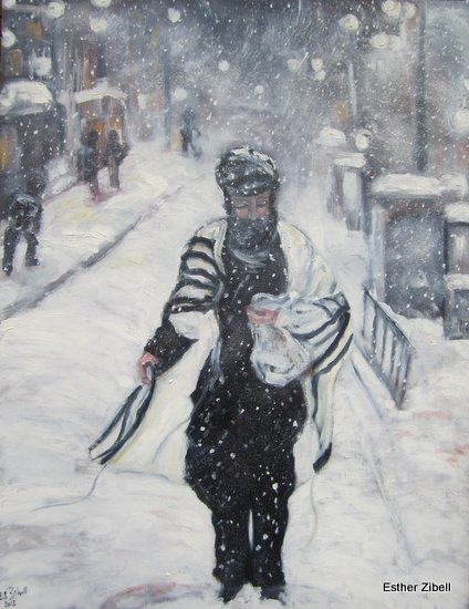 Snow on the city
