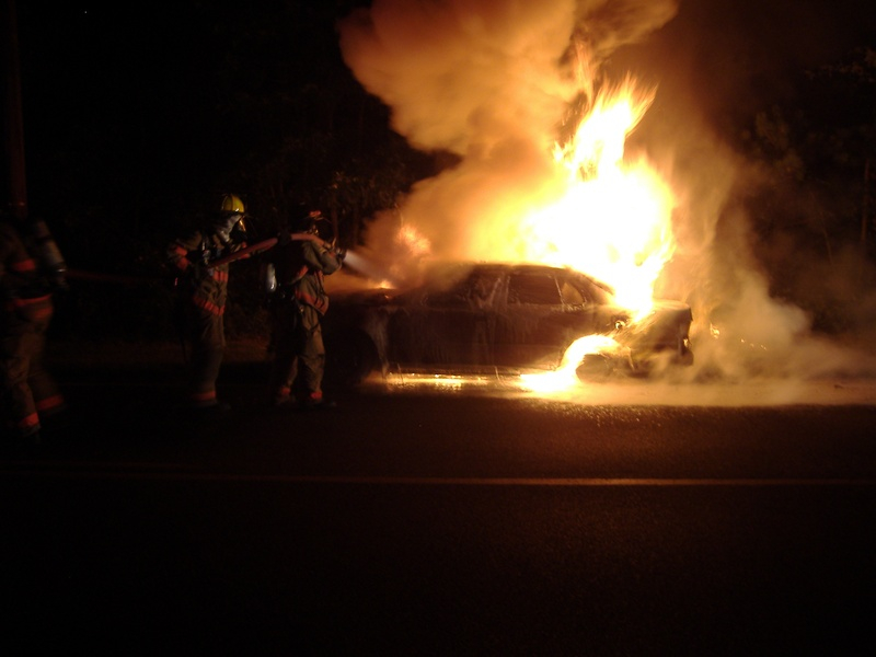08-02-11 Lacey Rd - Vehicle Fire
