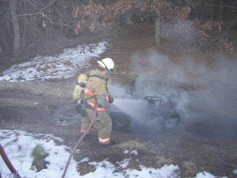 03-01-10 ATV Fire on the Garden State Parkway