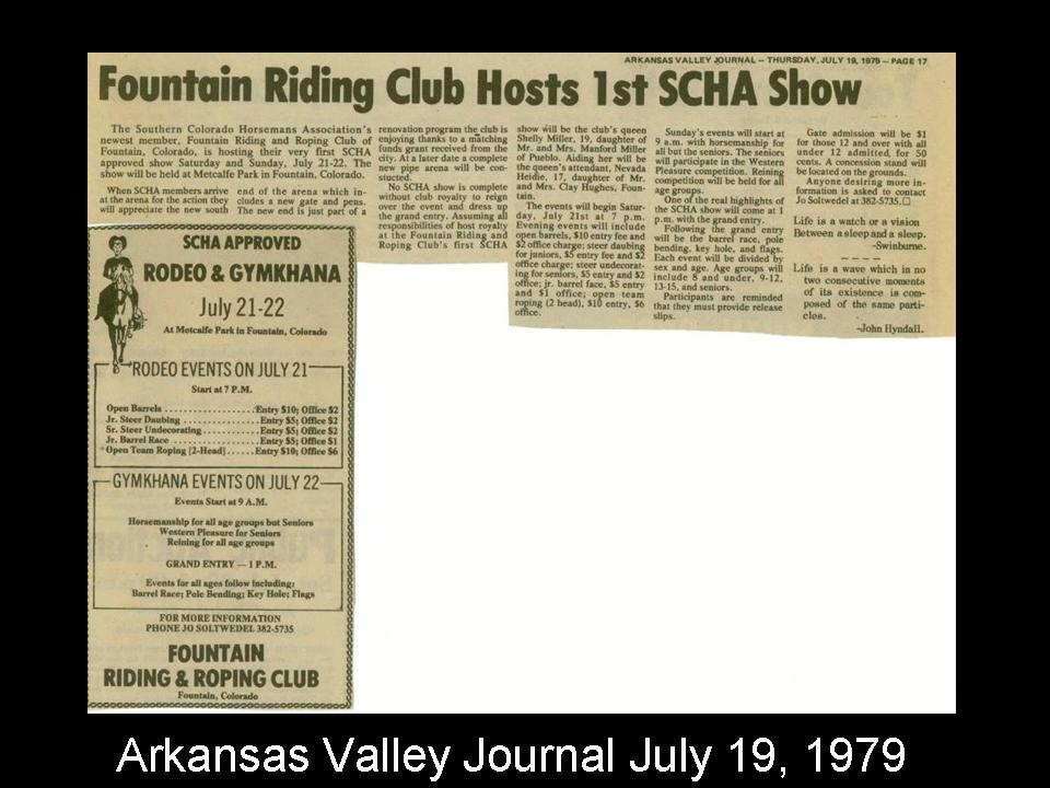 Fountain Riding Club Hosts 1st SCHA Show