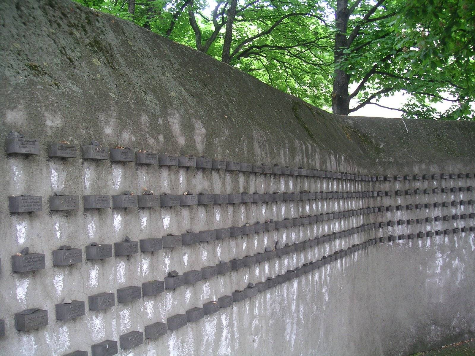Jewish Holocaust Memorial Wall