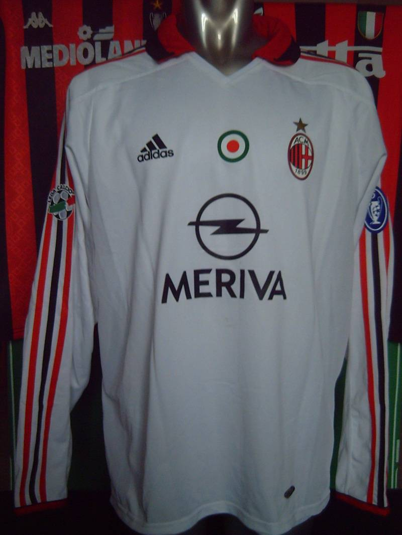 AC MILAN MATCH WORN SHIRT 2003-04
