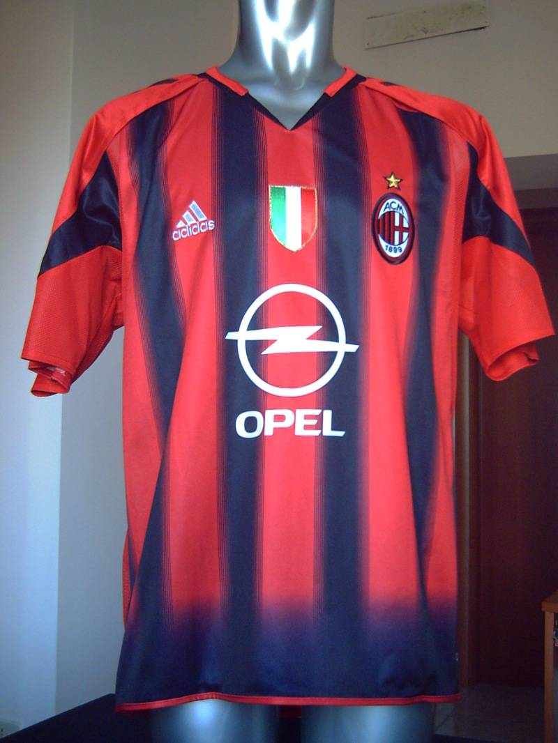 AC MILAN MATCH WORN SHIRT 2004-2005