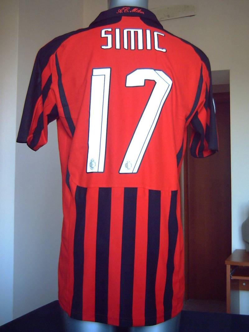 AC MILAN SHIRT HOME 17 SIMIC