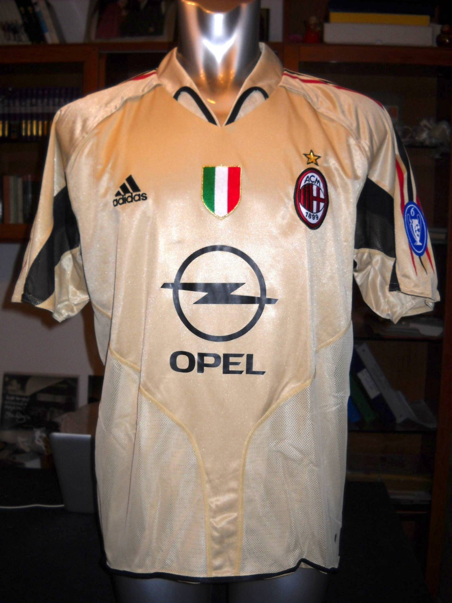 AC MILAN MATCH WORN 3RD SHIRT 2004-05
