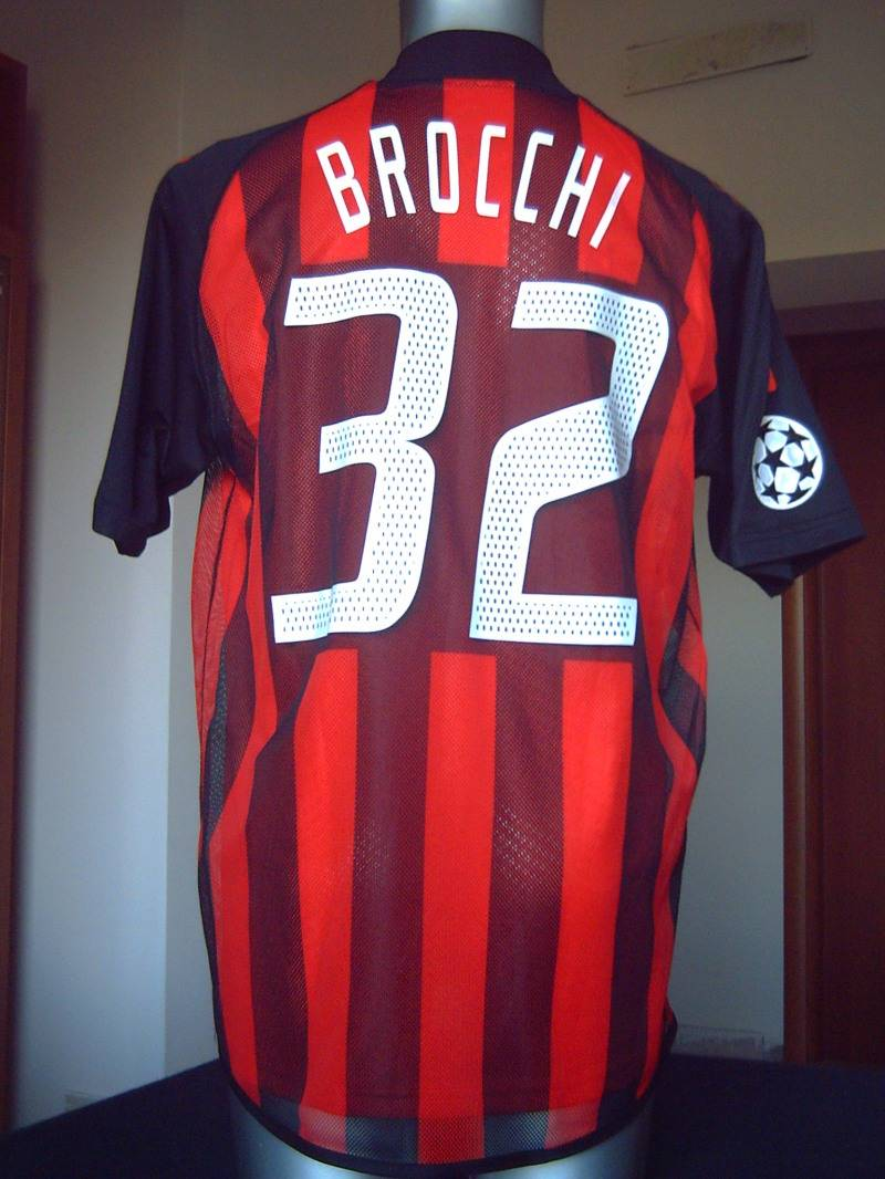 "AC MILAN SHIRT ""CHAMPIONS LEAGUE"" 23 BROCCHI"