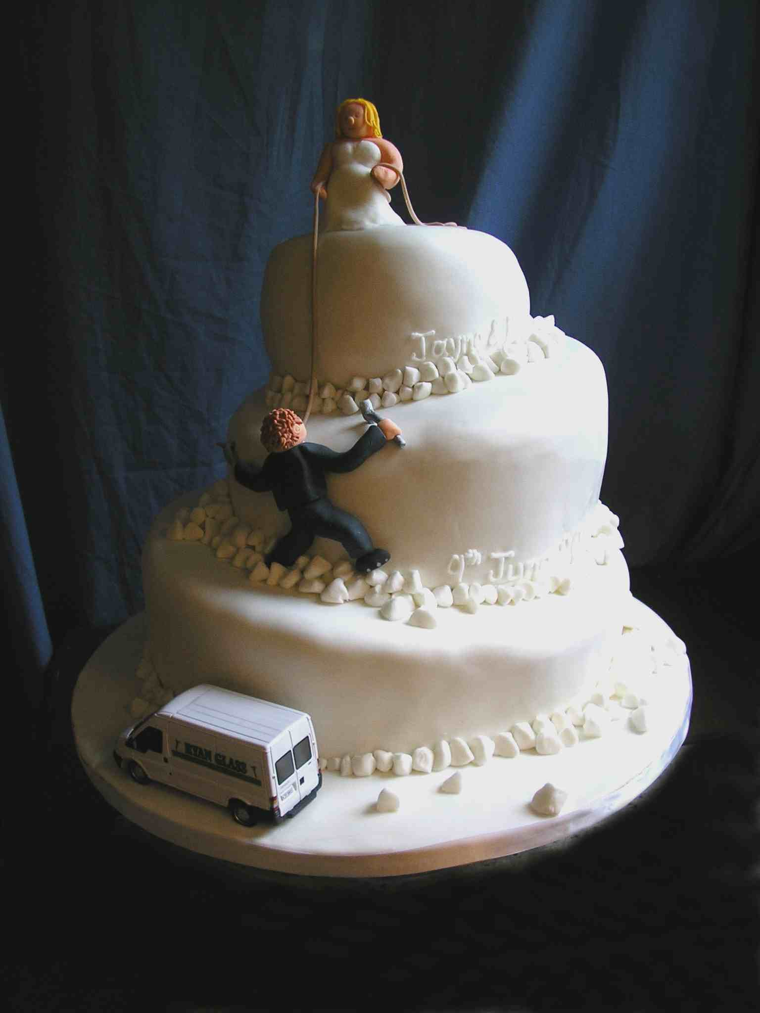 Ice Climbers' Wedding Cake