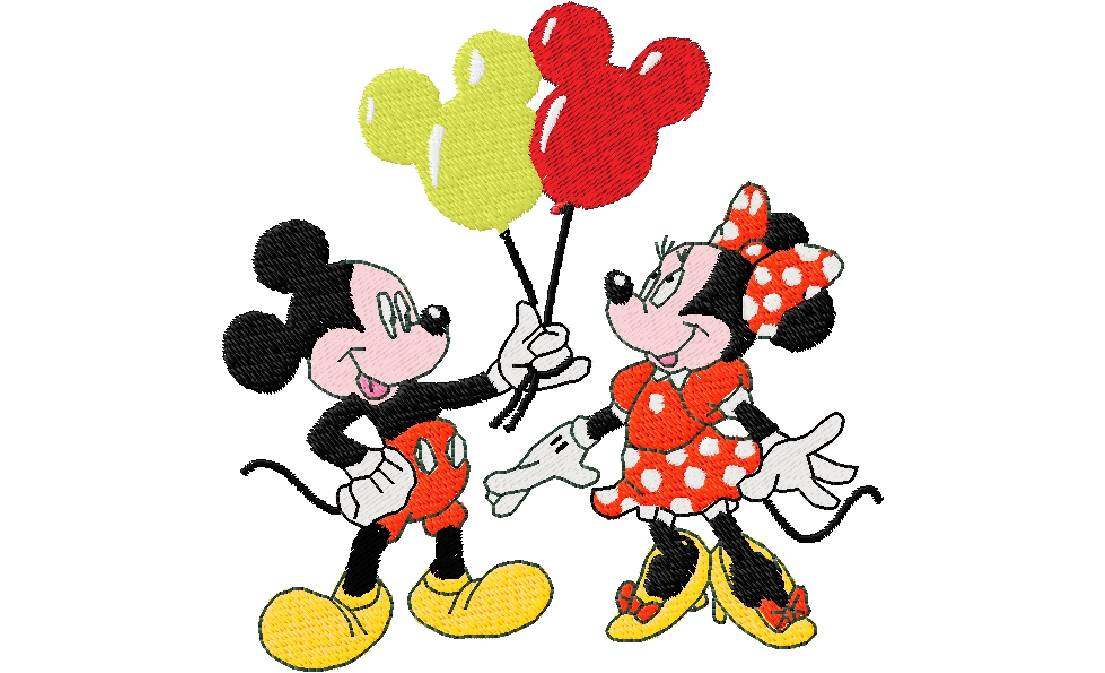 Mickey en minnie 97 X 98