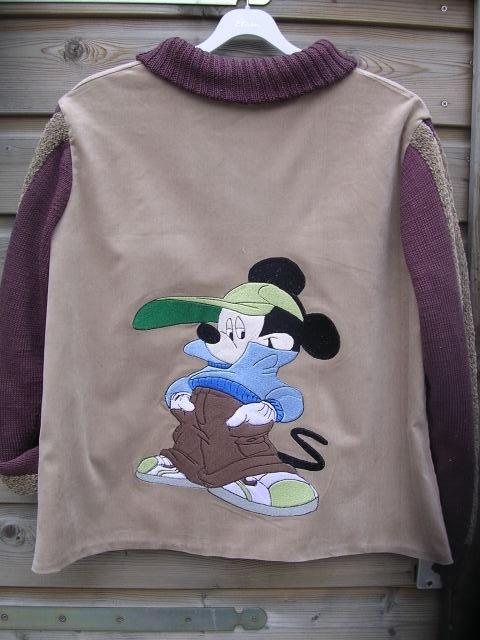 achterkant zelf gemaakt vest