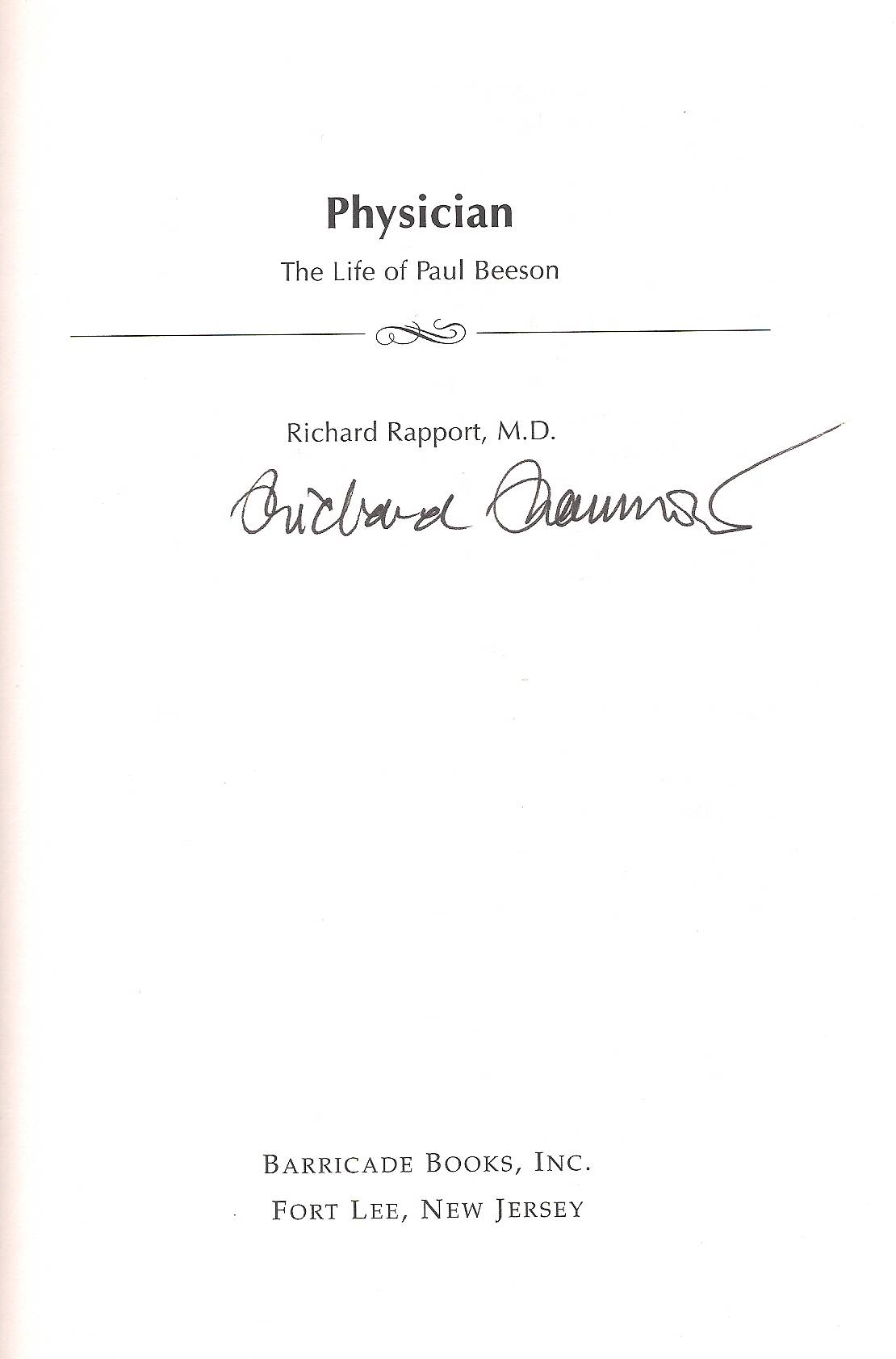 Dr. Richard Rapport