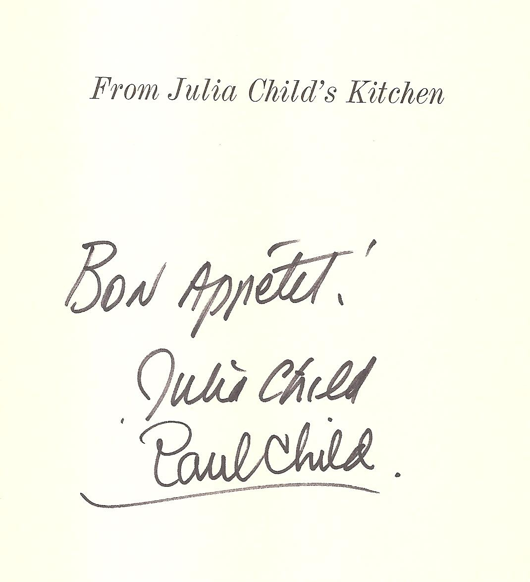 Julia Child, Paul Child