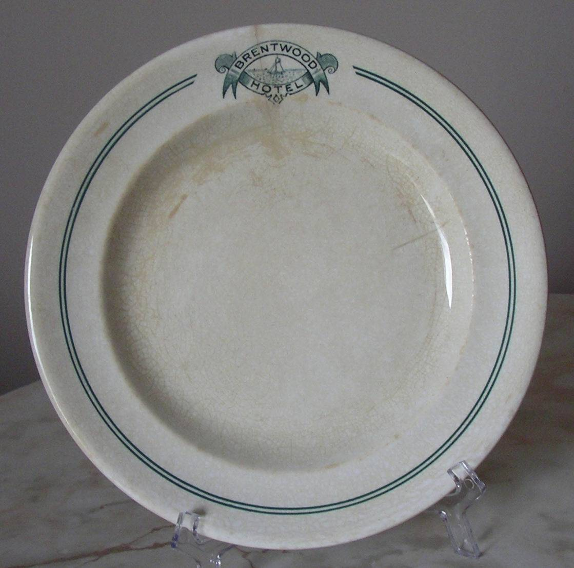 Brentwood Hotel Plate