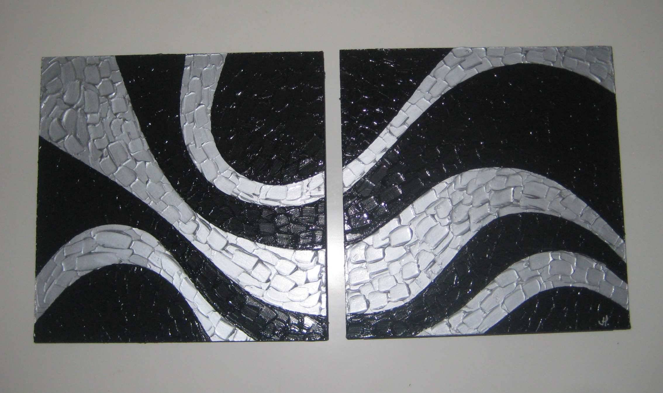 Black and Silver Swirl