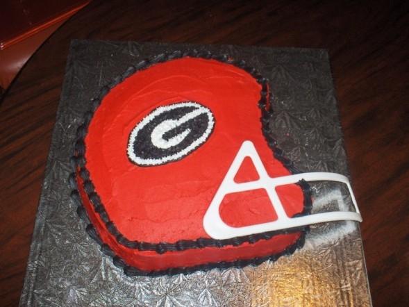 UGA helmet cake