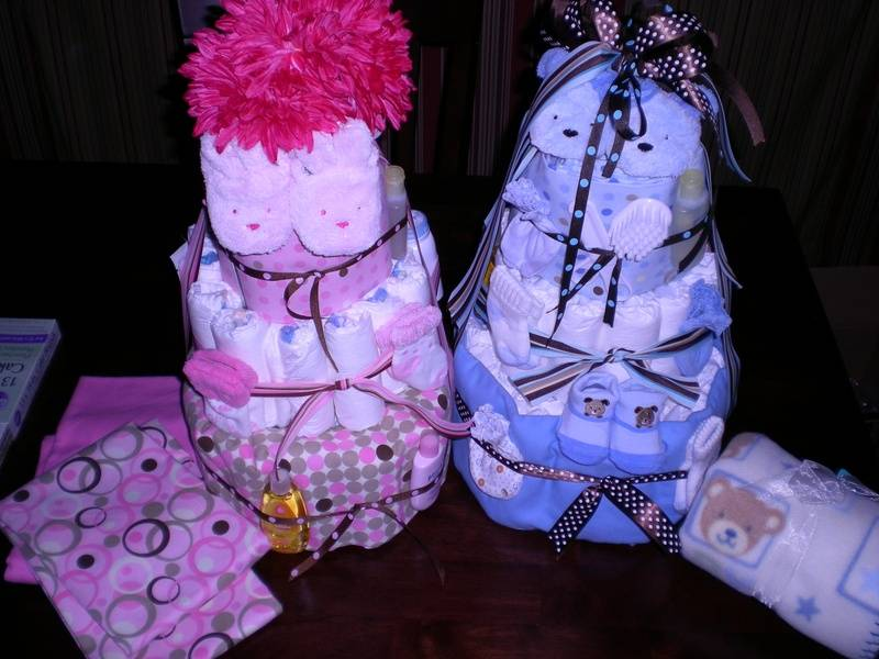 Boy/Girl Diaper Cake