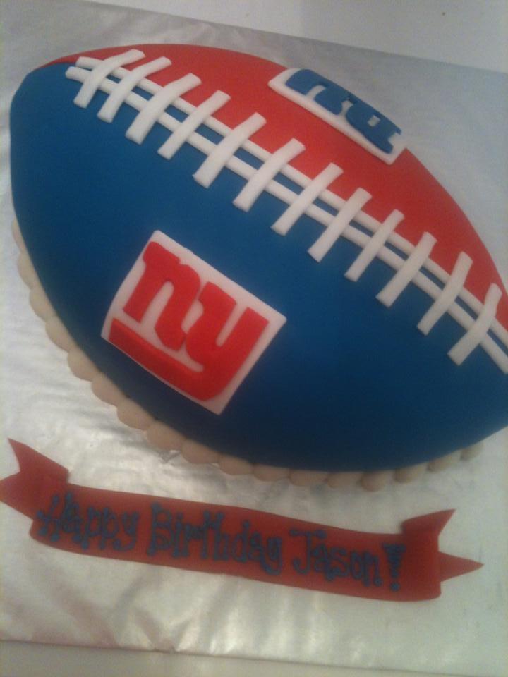 New York Giants football cake
