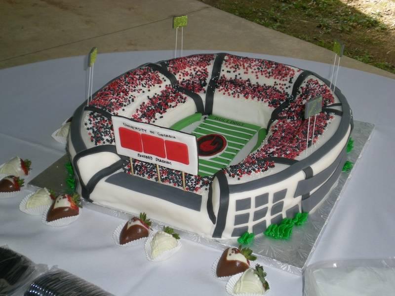 UGA Sanford Stadium Cake