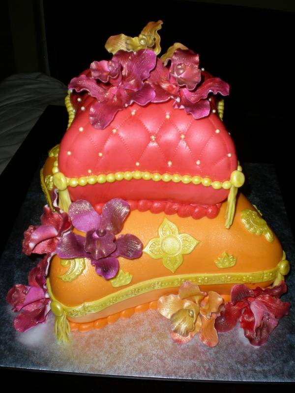Moroccan themed b-day cake