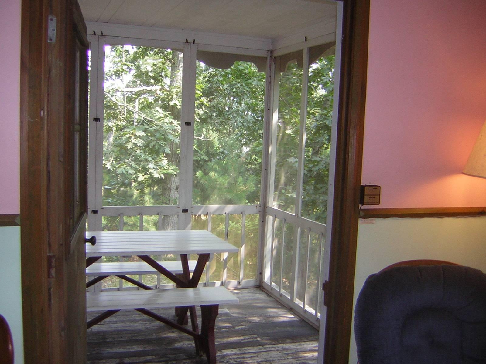 Back porch - East