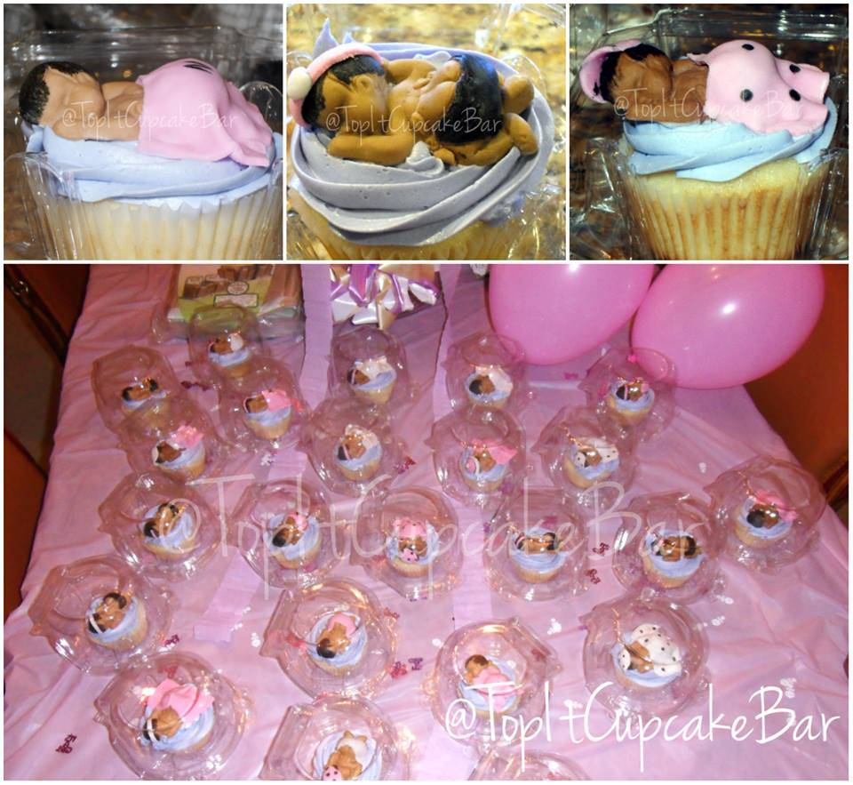 Custom edible handmade baby toppers