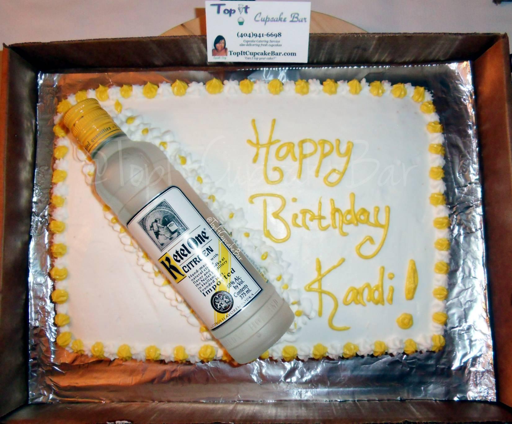 Kettle One Bottle & Cake