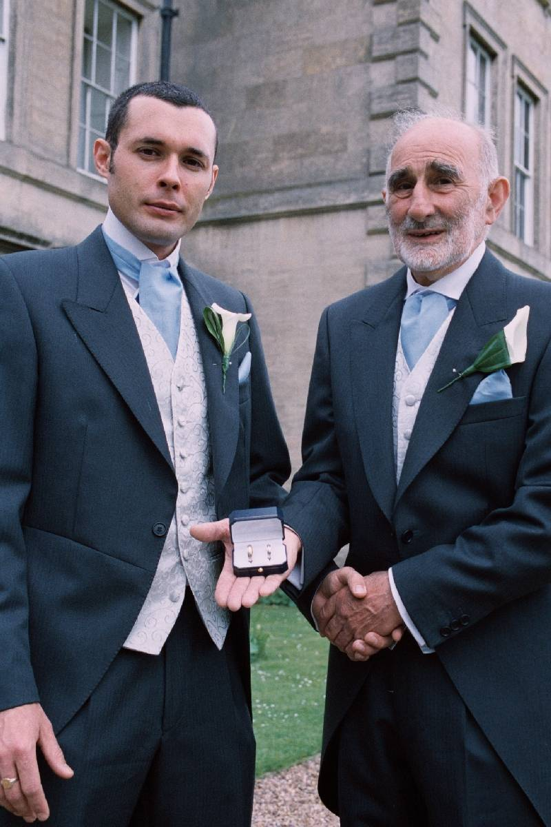 Groom and Dad .