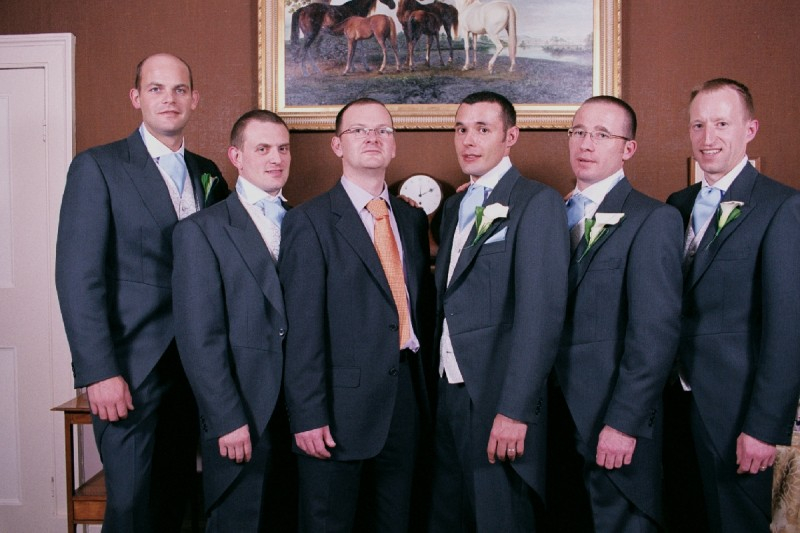The groom's men .