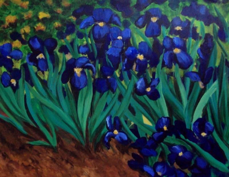 Van Gogh Inspired Irises
