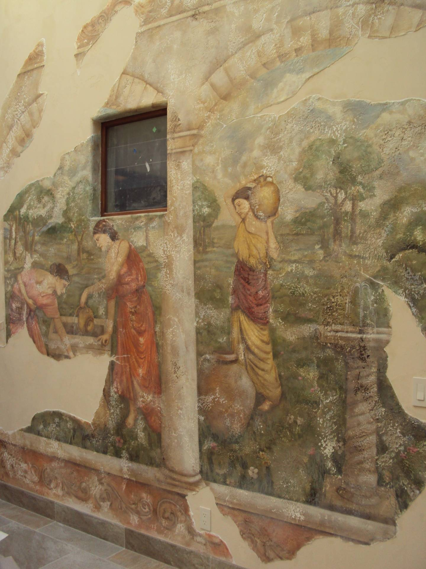 Fresco Ladies at the Well