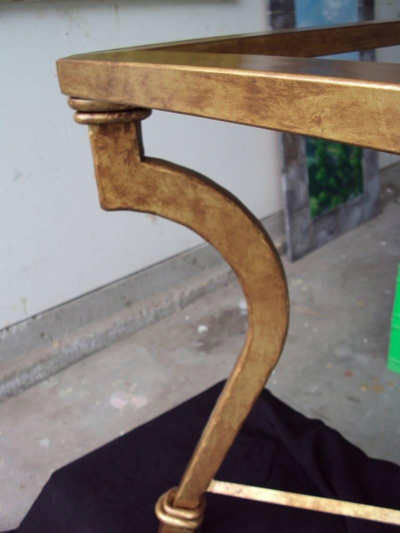 Antiqued Golden Table