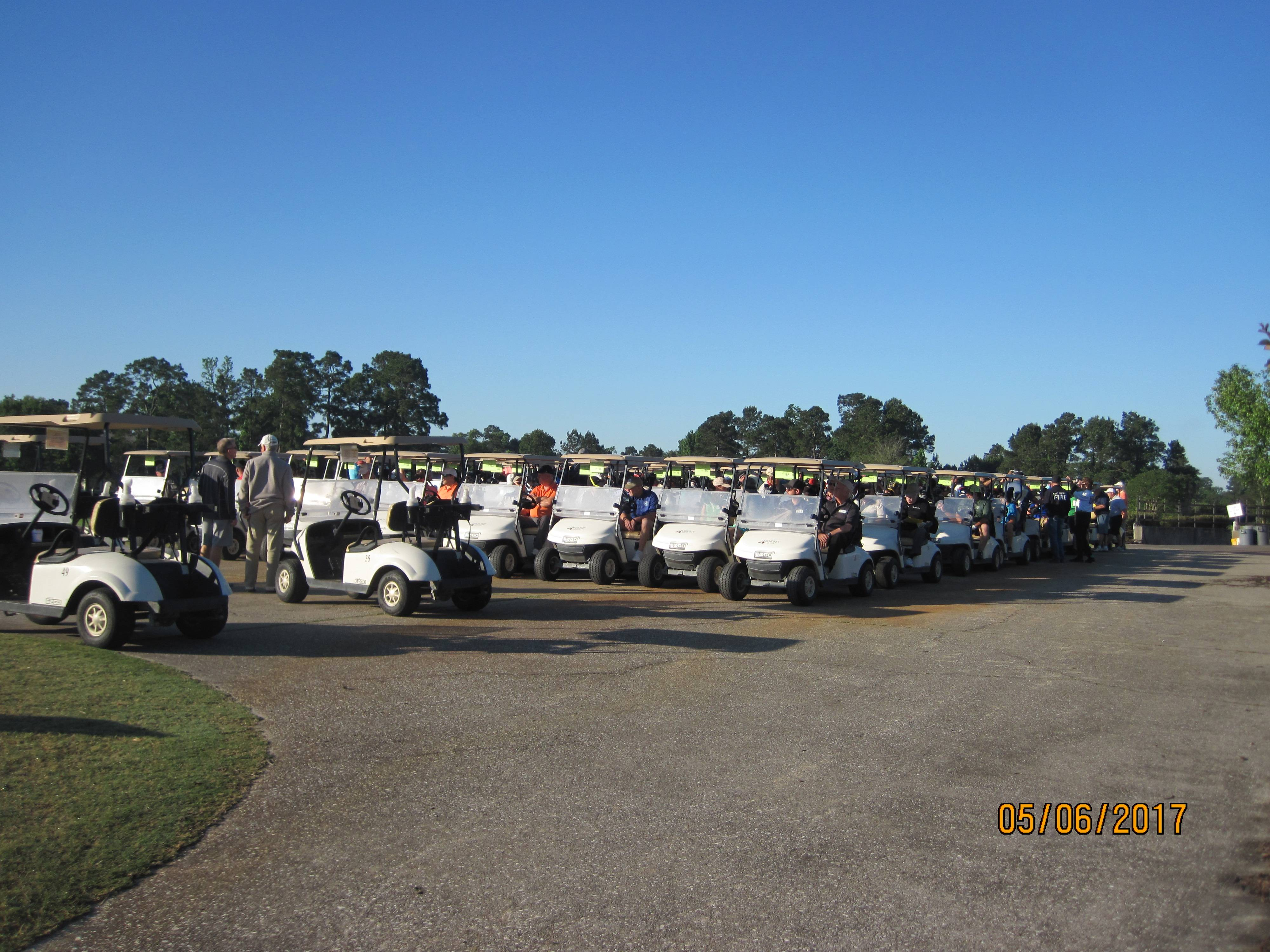 Staged Golf Carts