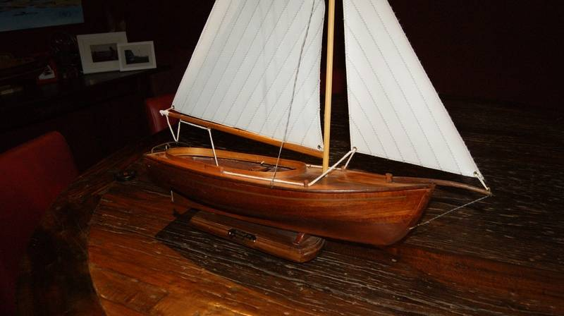 """""""The Dawn"""" couta boat designed by Peter Locke Queenscliff."""