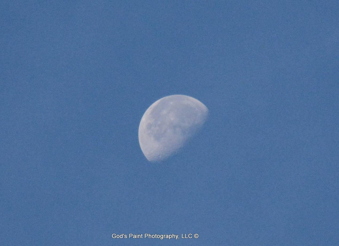 Moon & Blue Sky