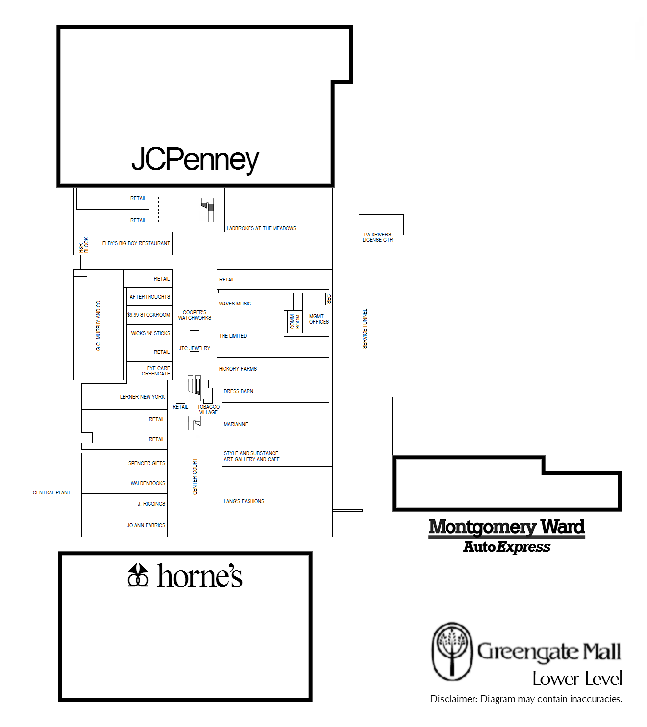 Lower Level Lease Plan (Early 1990s)