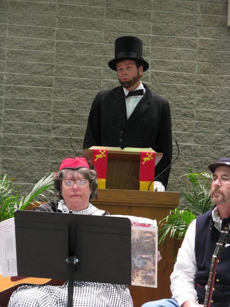 Lincoln recites Second Inaugural Address