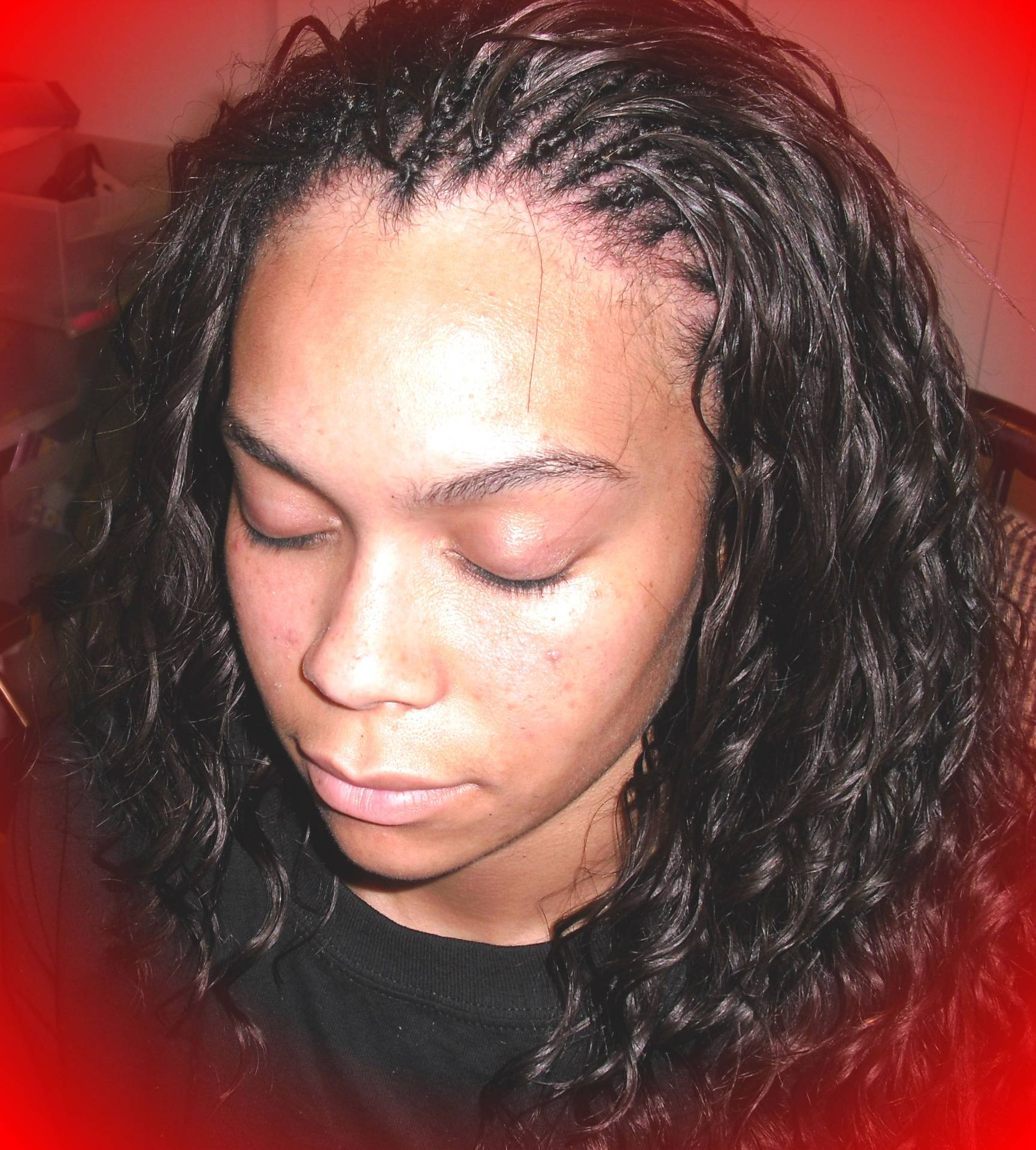 Two layer Micro tree braid with individual treebraids in back