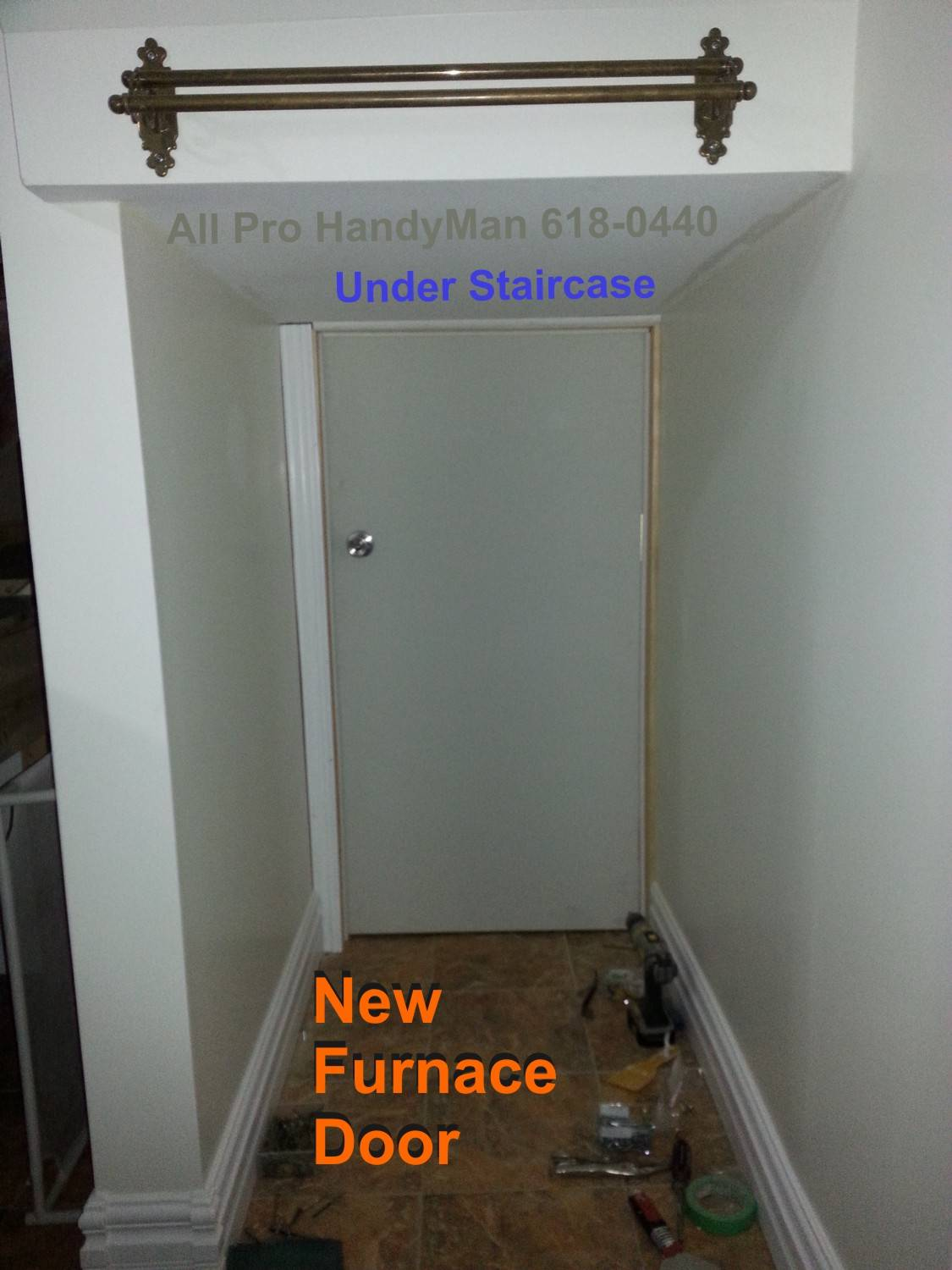 New furnace door