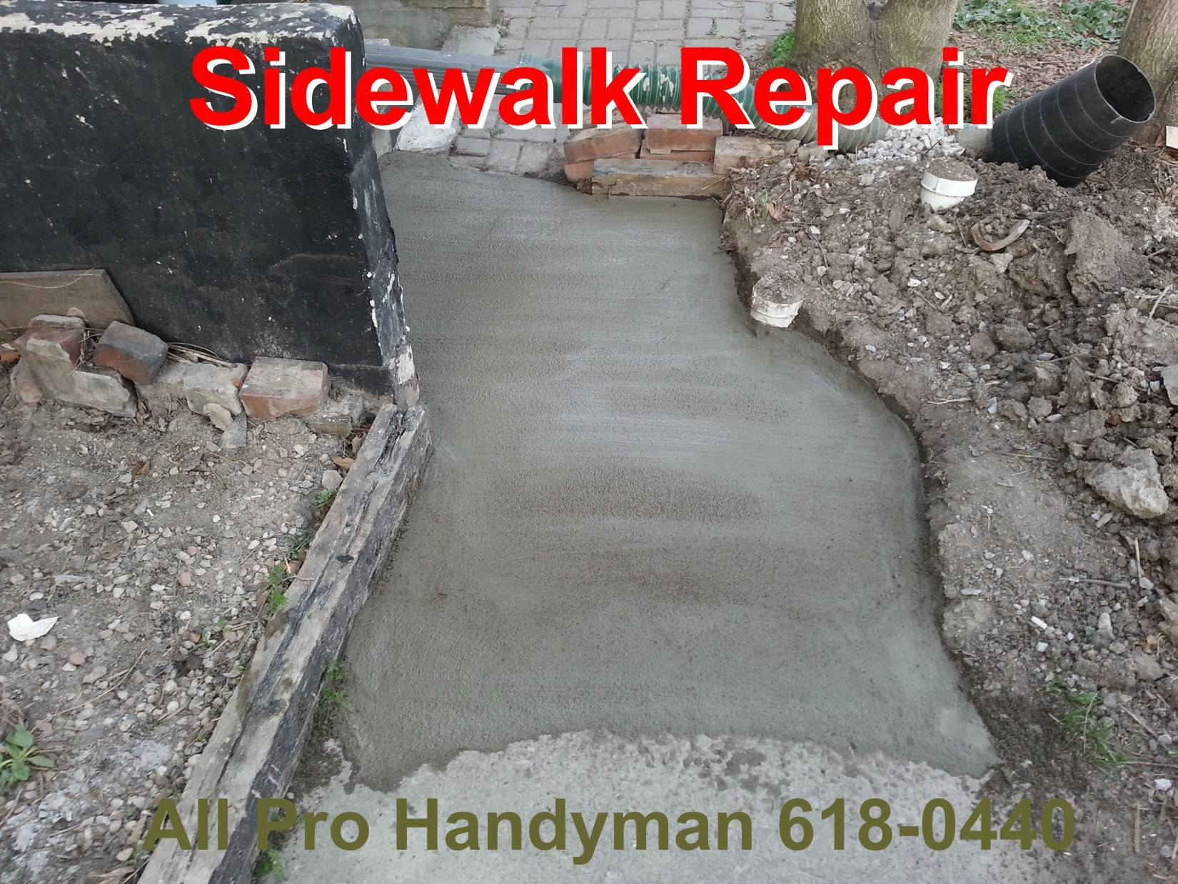 Side walk concrete repair