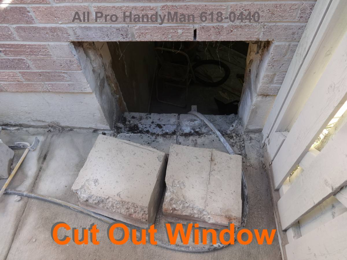 Larger Window cut