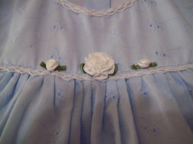 Blue Dress Front Detail