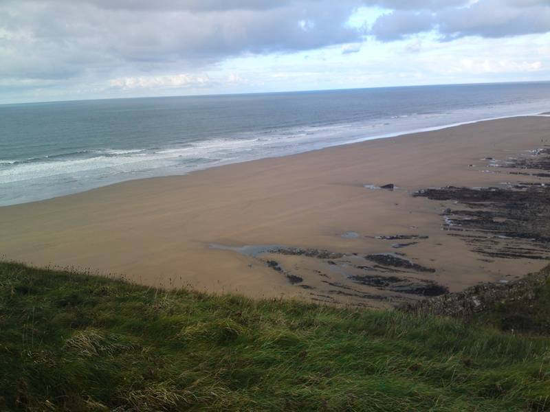 Walking from Sandymouth Beach to Bude