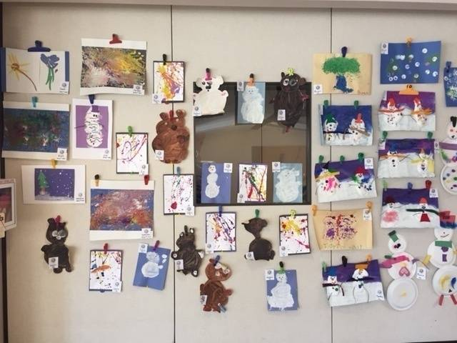 Art from Young 3's & 3 Year Old Classes