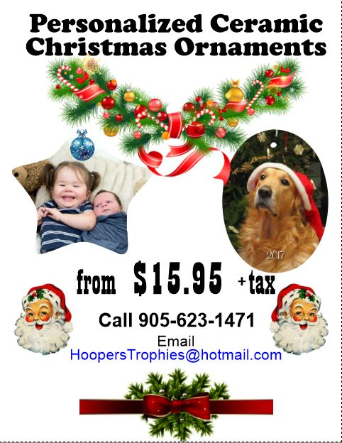 Personalized Ceramic Christmas Ornaments