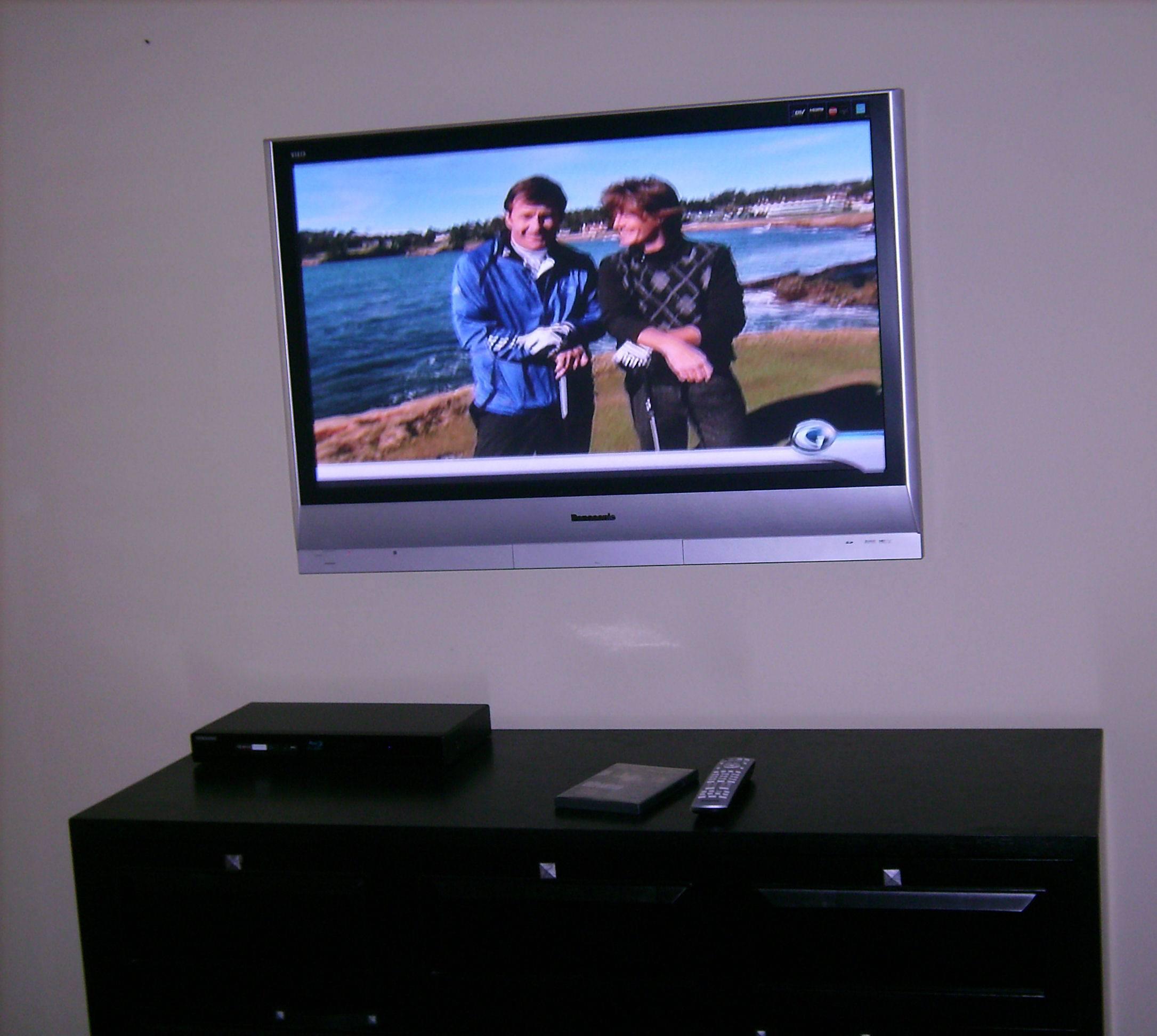 Premium TV Installation over dresser