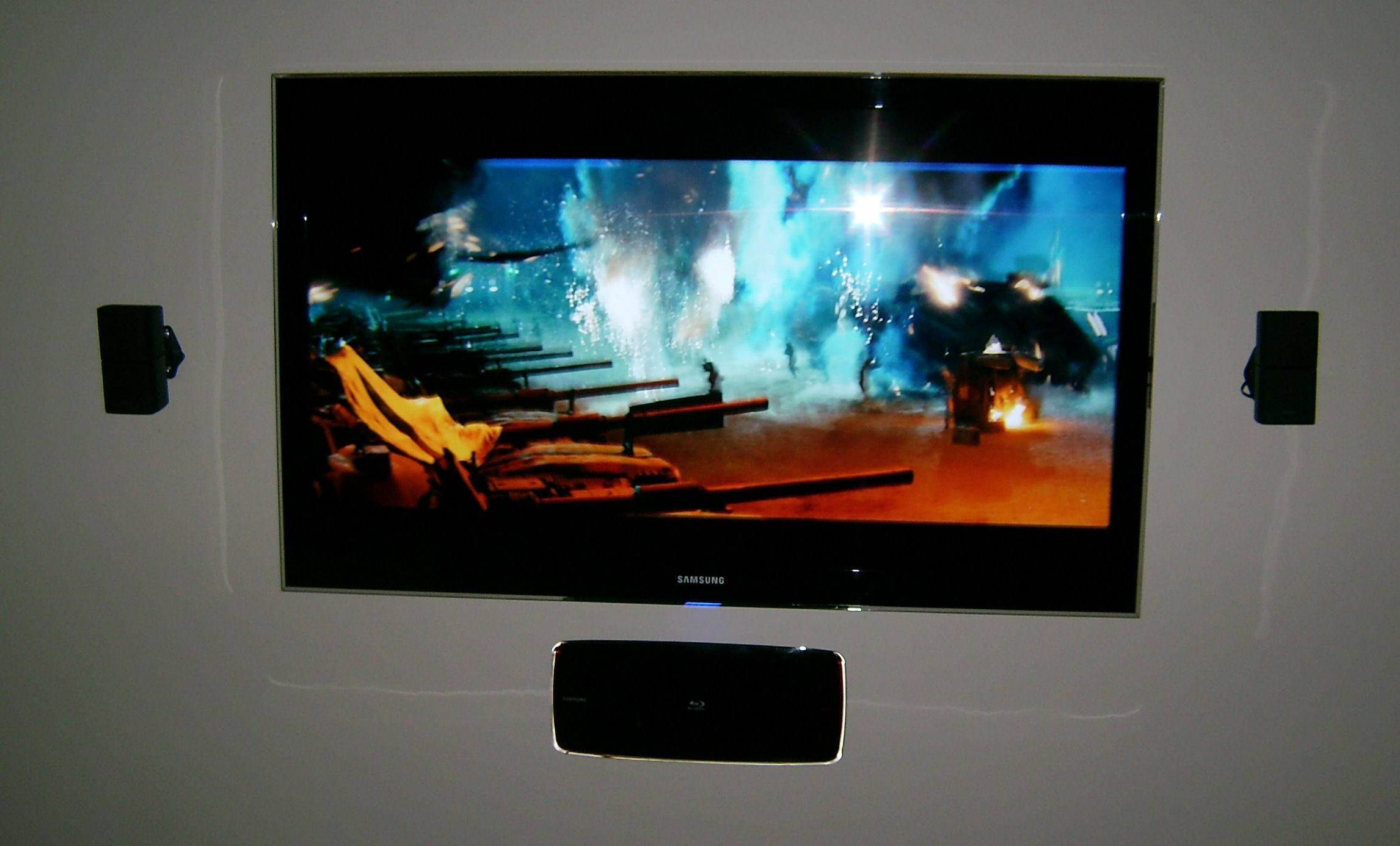 """Premium 65"""" Samsung LED TV Installed with 2.1 Bose Surround System & Samsung Blu-Ray Player Mounted"""