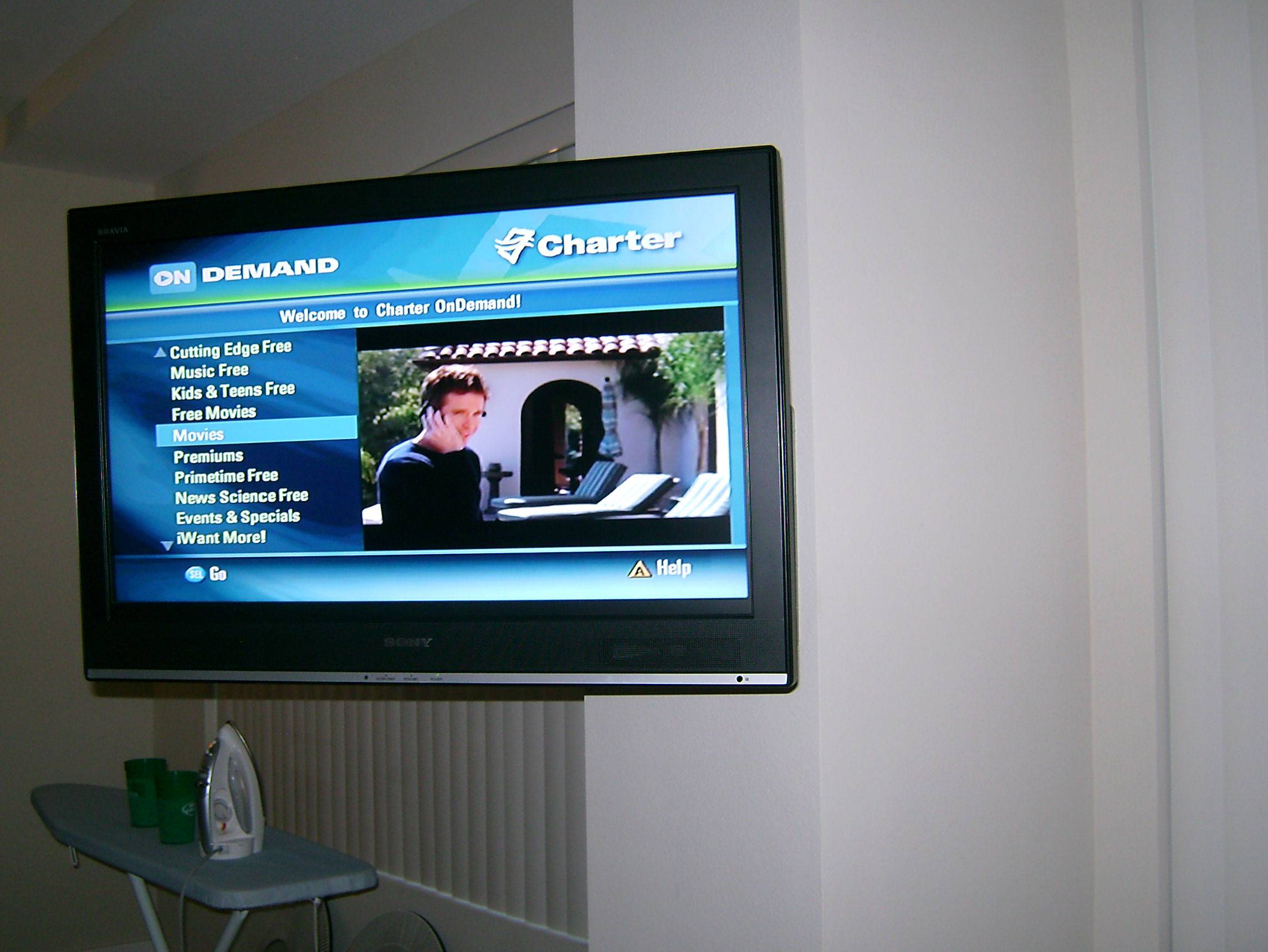 Premium LCD TV Installation with Articulating Wall Mount Bracket